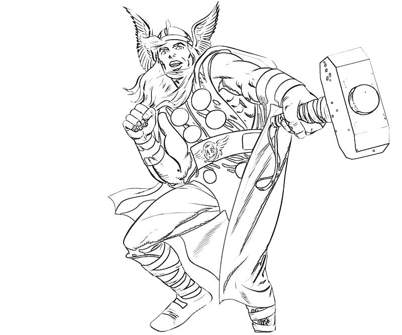 Thor Endgame Coloring Page