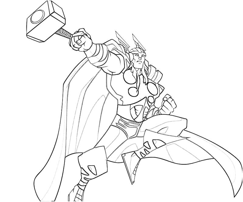 Thor Stormbreaker Coloring Page