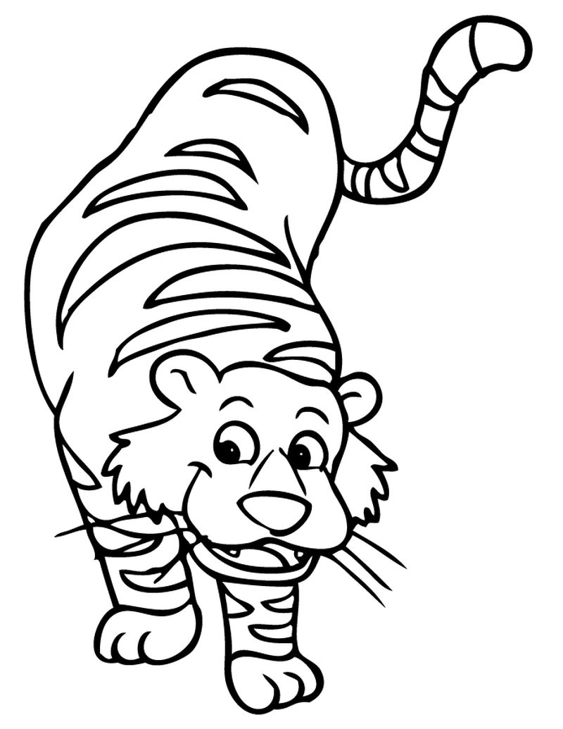 Tiger Character Coloring Pages