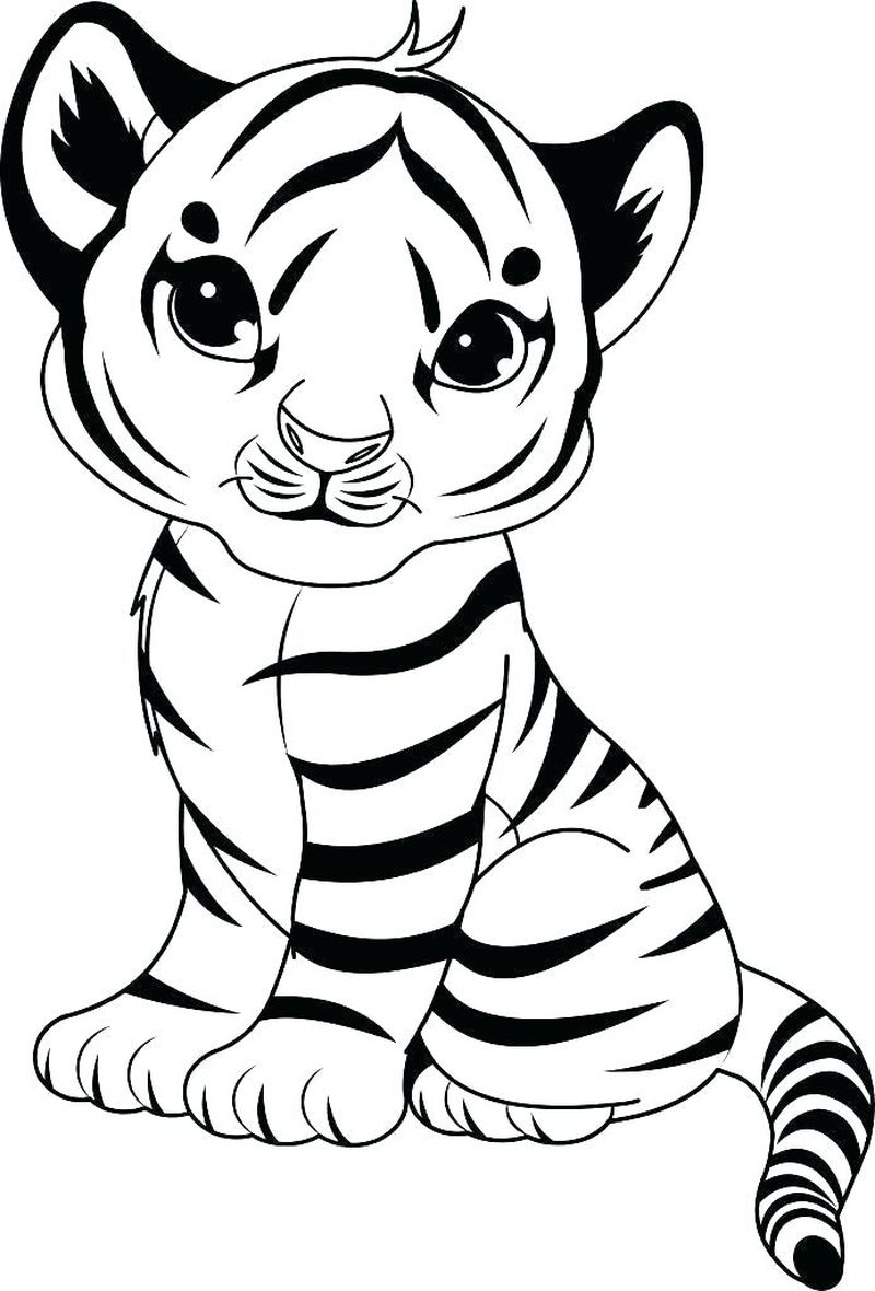 Tiger Coloring Pages For Prek