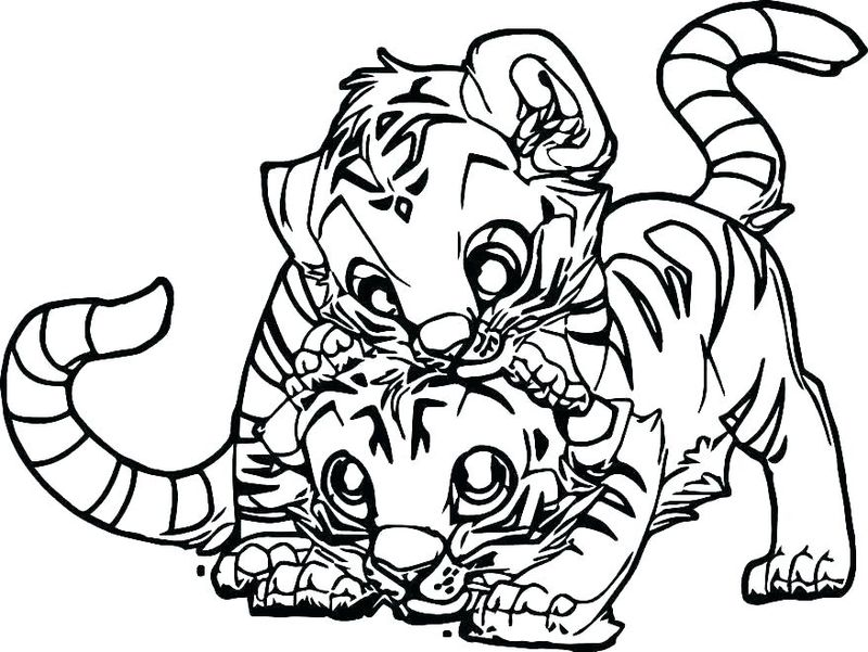 Tiger Coloring Pages For Toddlers