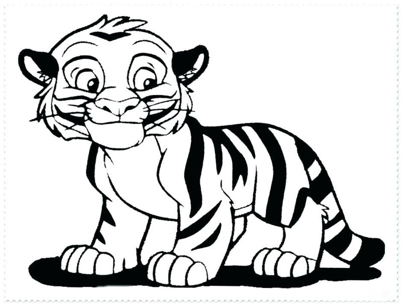 Tiger Coloring Pages Outline