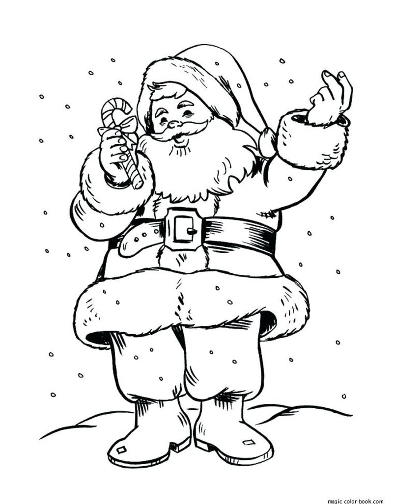 Train And Santa Claus Coloring Pages Online Free