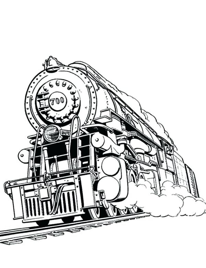 Train Coloring Pages For Adults