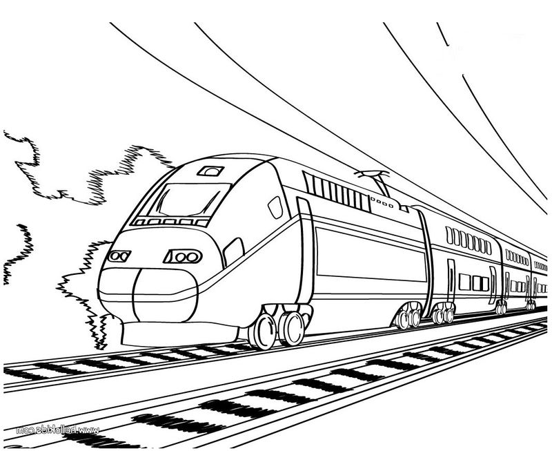 Train Coloring Pages Simple