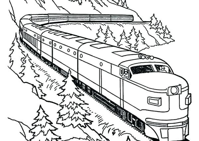 Train Dragon Coloring Pages