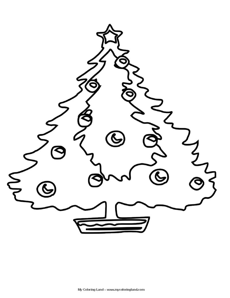 Tree Christmas Coloring Pages