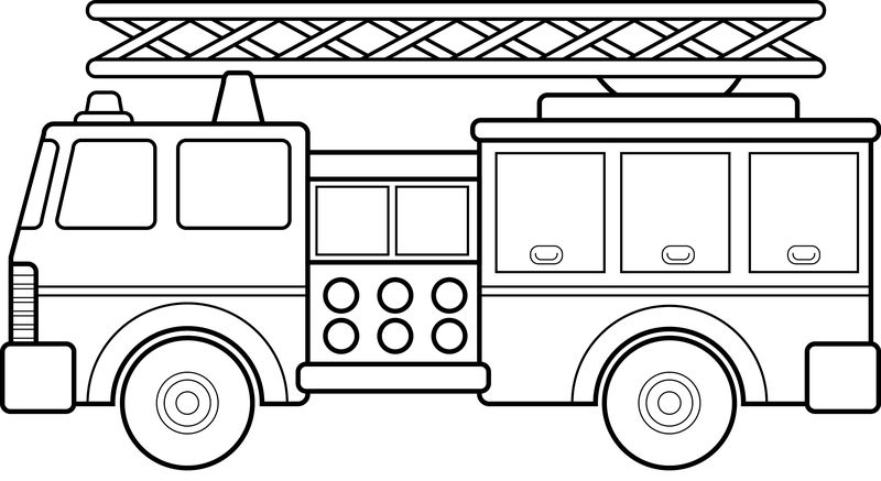Truck Coloring Pages Excavator