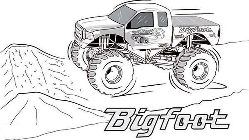 Truck Coloring Pages For Kindergarten
