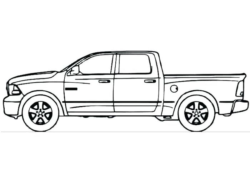 Truck Coloring Pages To Print Free