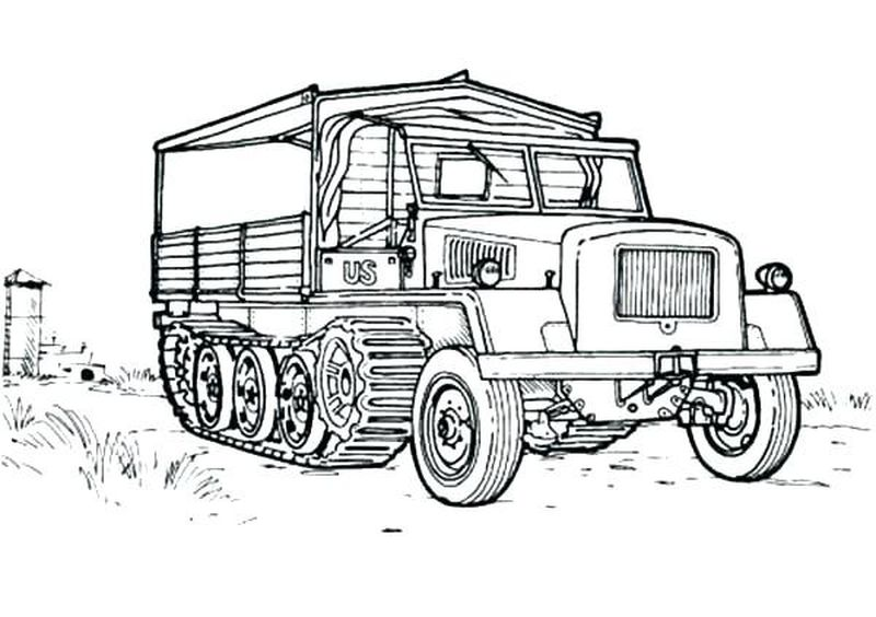 Trucks Coloring Pages Printable
