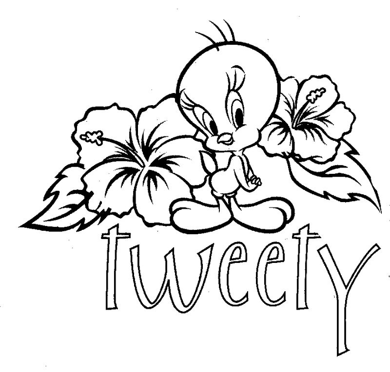 Tweety Cartoon Coloring Pages
