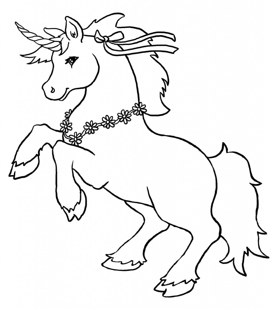 Unicorn Coloring Pages With Wings