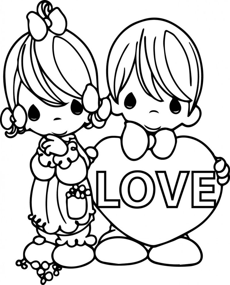 Valentine Coloring Pages For Sunday School