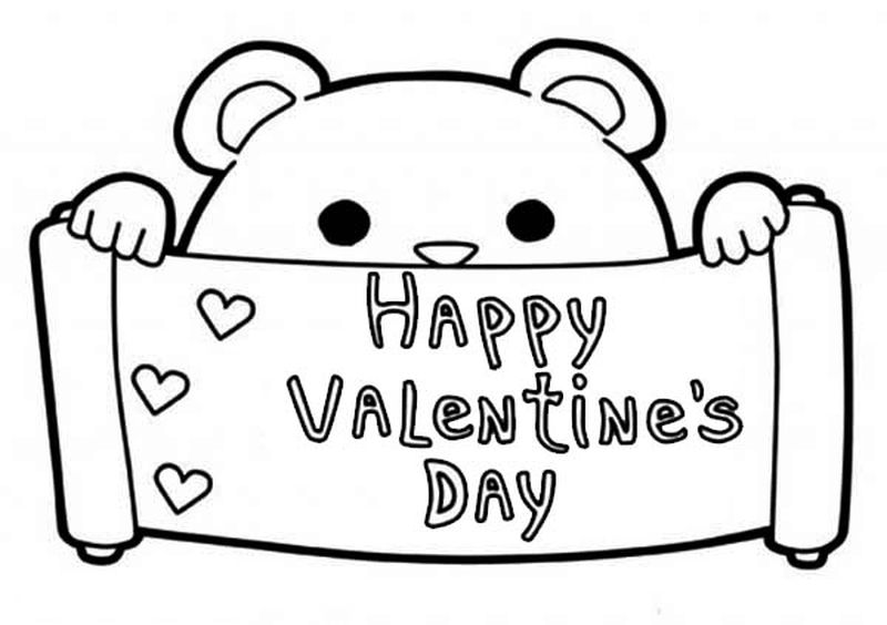 Valentine Coloring Pages Free Online pdf