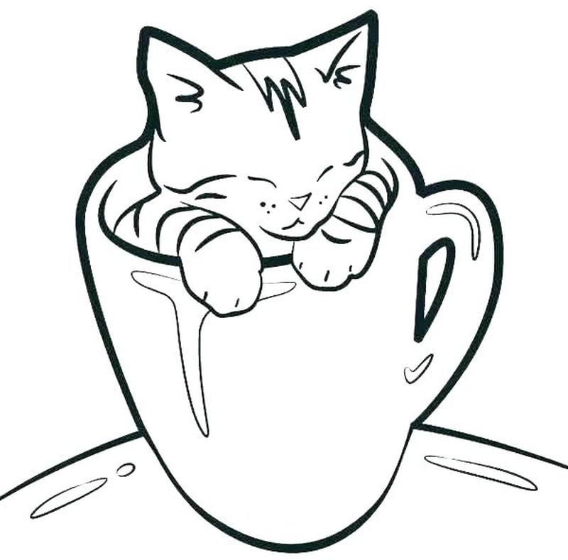 Valentines Day Coloring Pages Cats