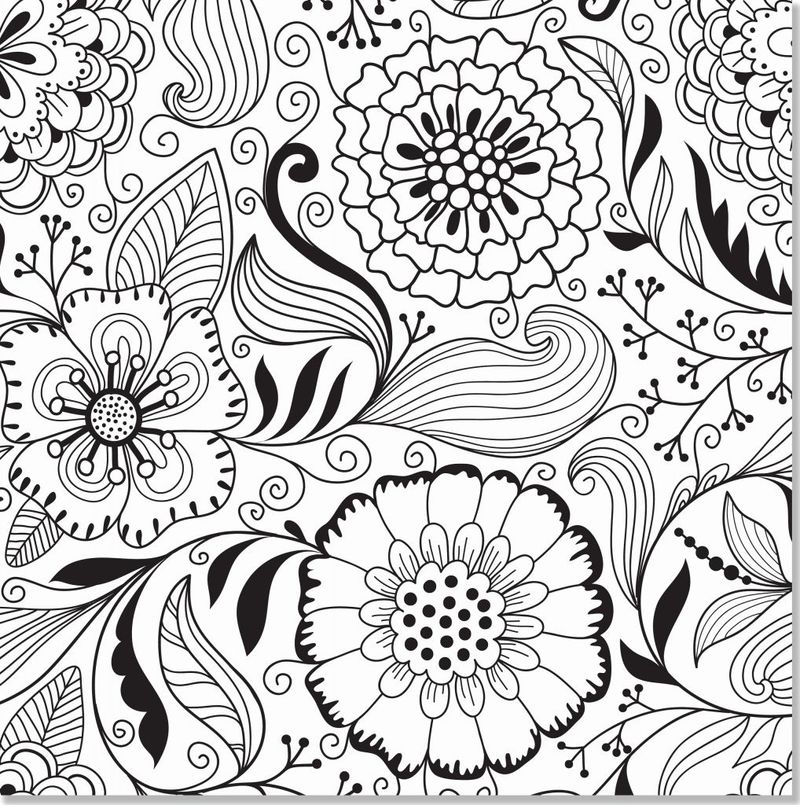 Valentines Day Flowers Coloring Pages