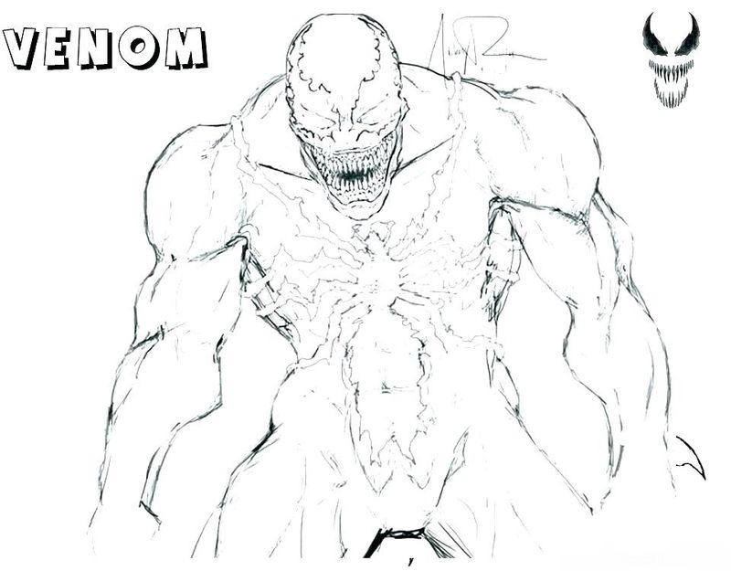 Venom Character Coloring Pages