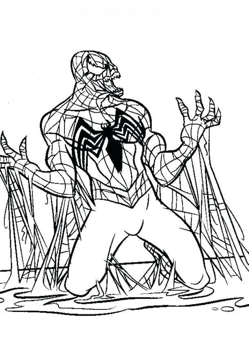 Venom Coloring Pages Free