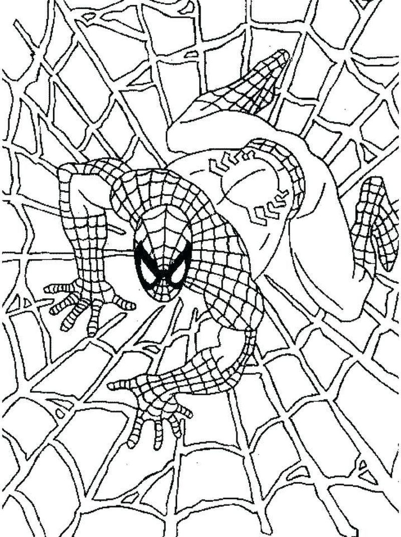Venom From Spiderman Coloring Pages