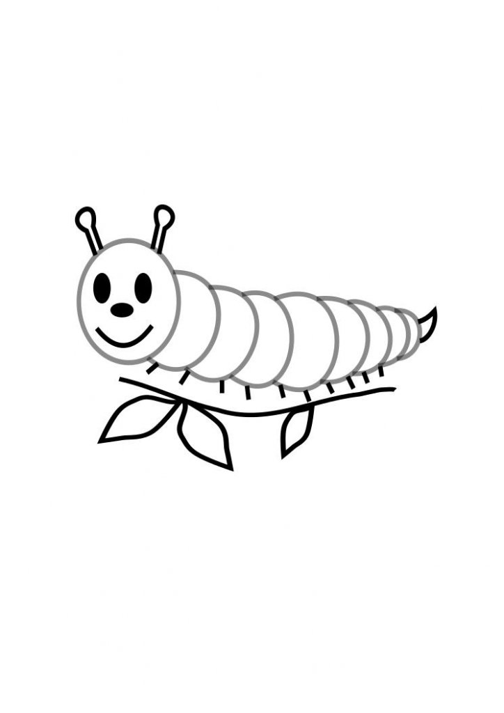 Very Hungry Caterpillar Coloring Pages Free Download