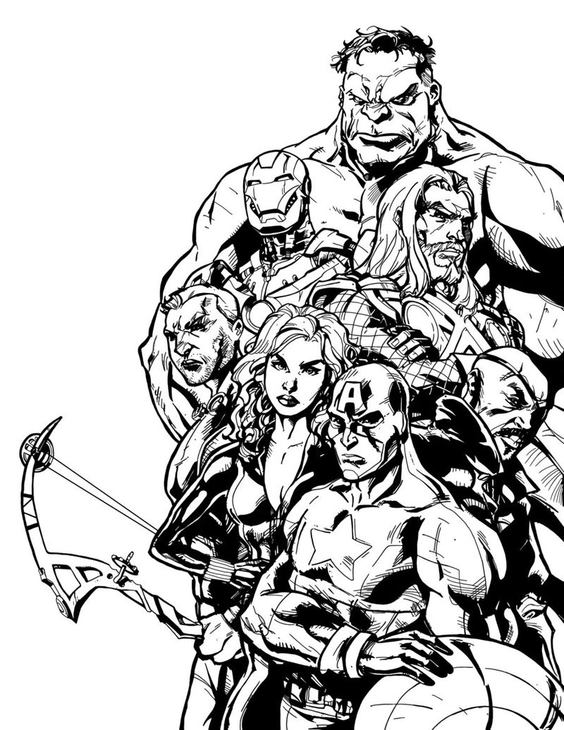 Wasp Avengers Coloring Pages