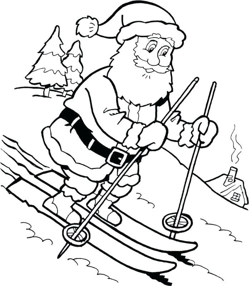 Welcome Santa Claus Coloring Pages Online