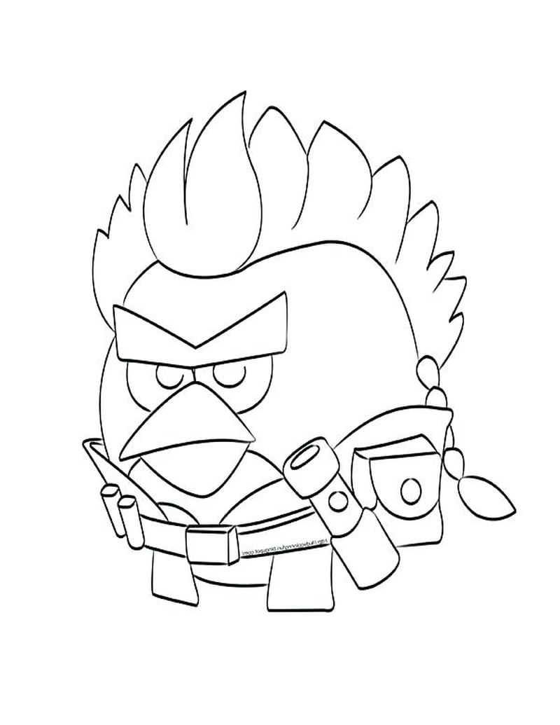 White Angry Birds Coloring Pages