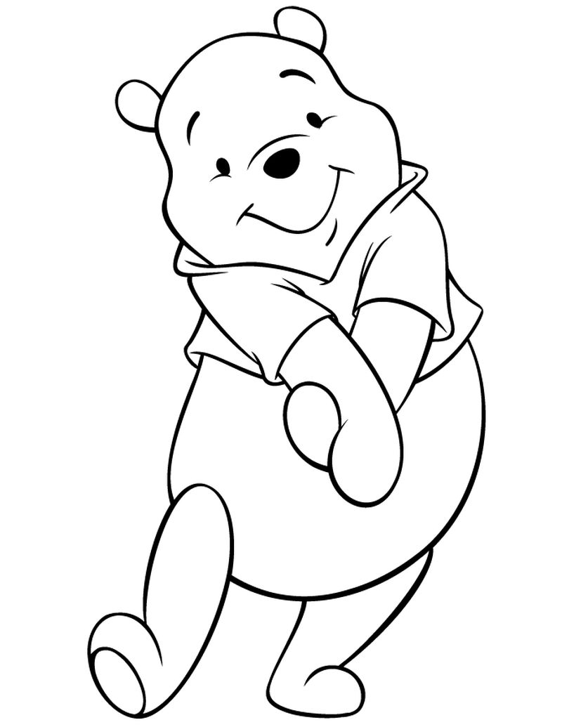 Winnie The Pooh And Friends Coloring Pages Free
