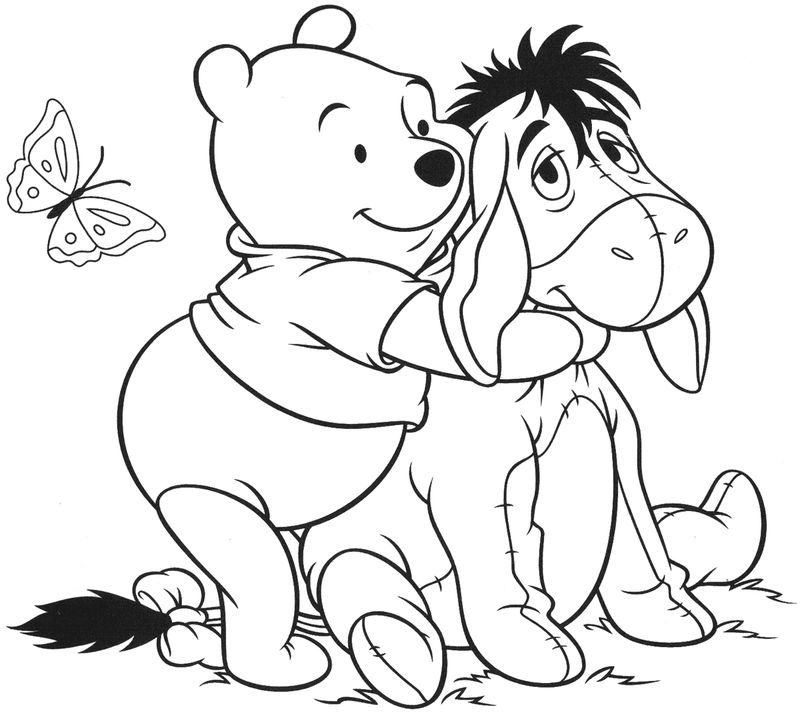 Winnie The Pooh And Friends Coloring Pages To Print