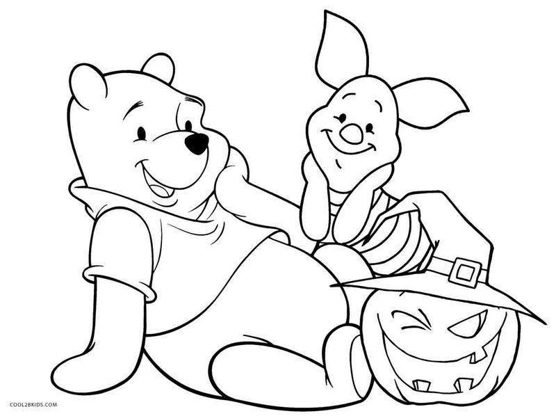 Winnie The Pooh And Piglet Coloring Page