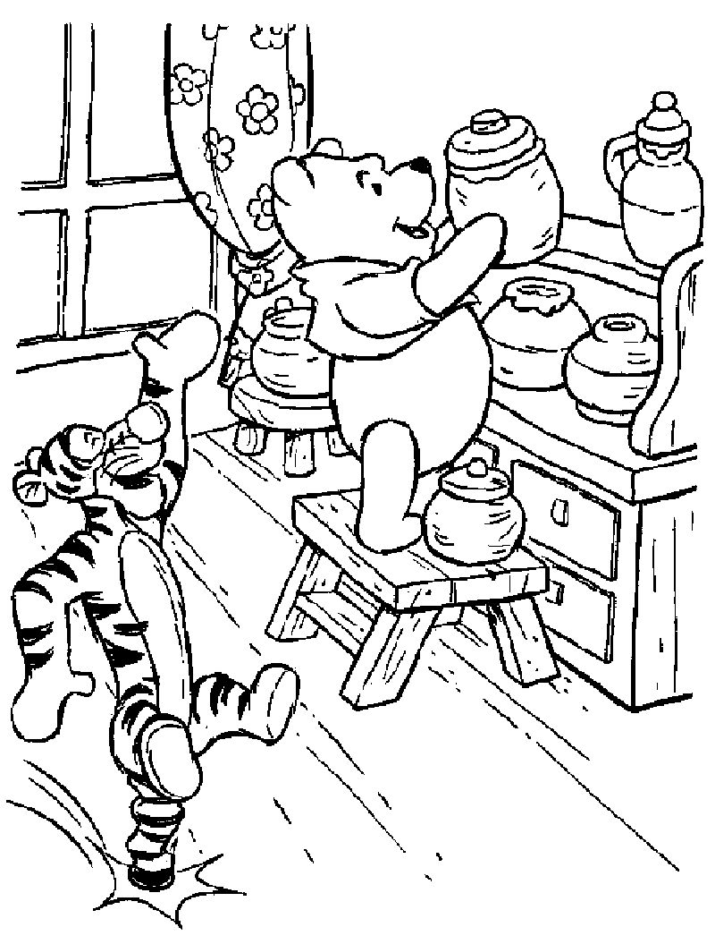 Winnie The Pooh Character Coloring Pages
