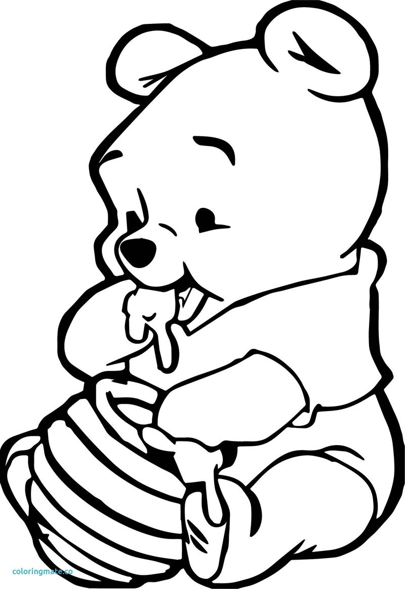 Winnie The Pooh Coloring Pages Baby