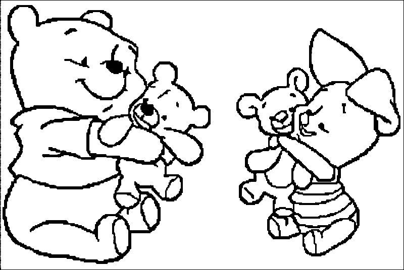 Winnie The Pooh Coloring Pages Disney Clips
