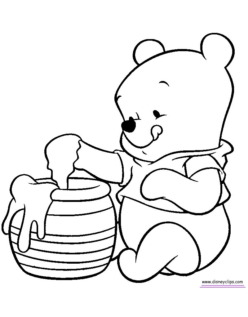 Winnie The Pooh Coloring Pages For Toddlers