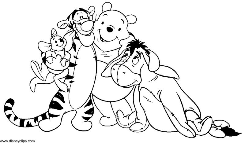 Winnie The Pooh Coloring Pages Friends