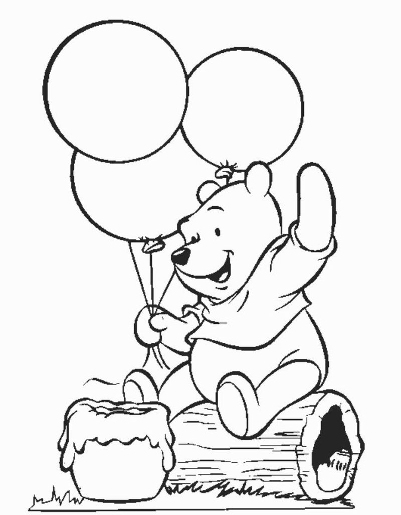 Winnie The Pooh Coloring Pages Winter