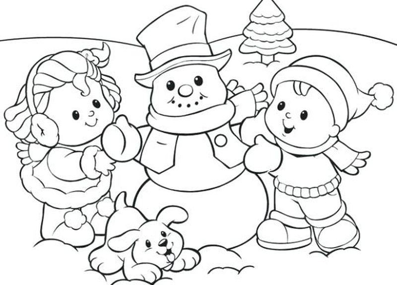 Winter Coloring Pages Disney