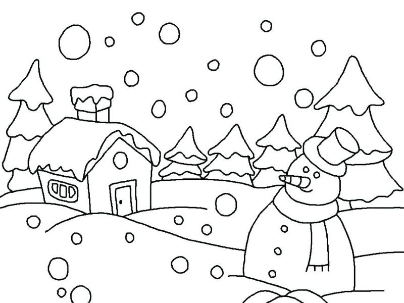 Winter Coloring Pages For First Grade