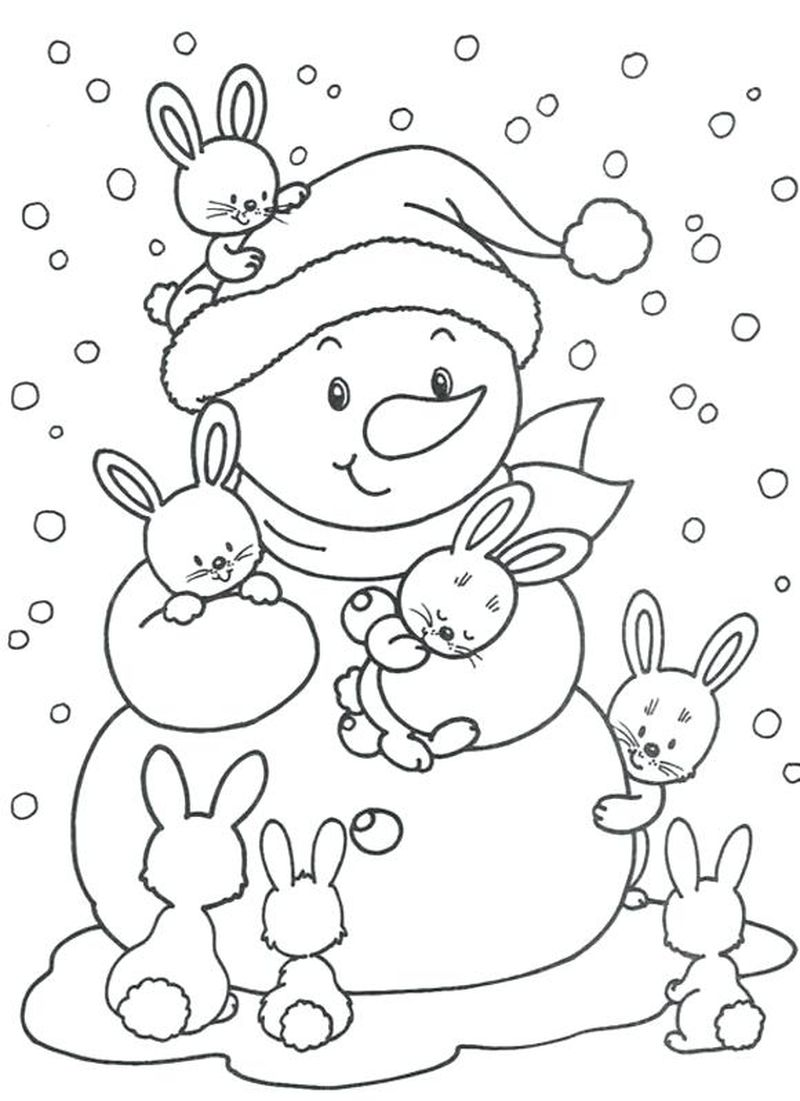 Winter Coloring Pages For Kindergarten Free