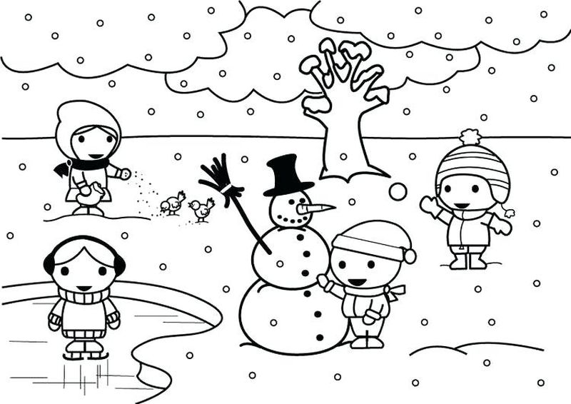 Winter Coloring Pages Free Pdf