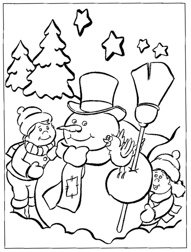 Winter Coloring Pages Oriental Trading