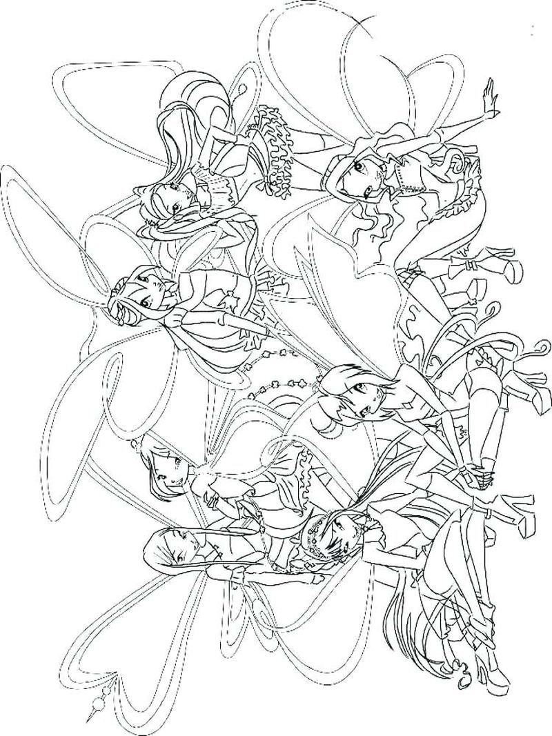 Winx Club Butterflix Coloring Pages