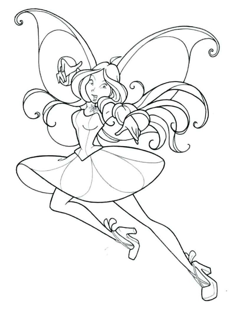 Winx Club Coloring Pages Games