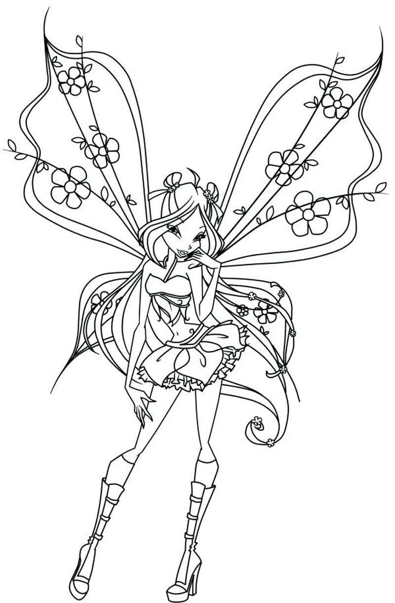 Winx Club Coloring Pages Pdf