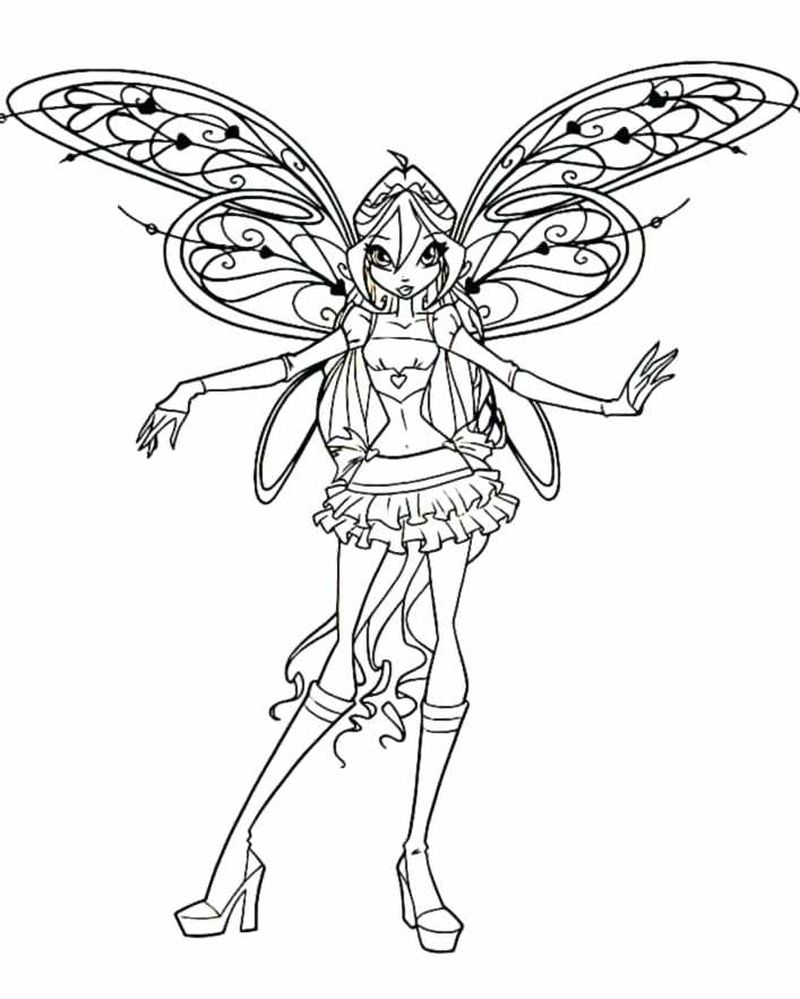 Winx Club Coloring Pages Sirenix