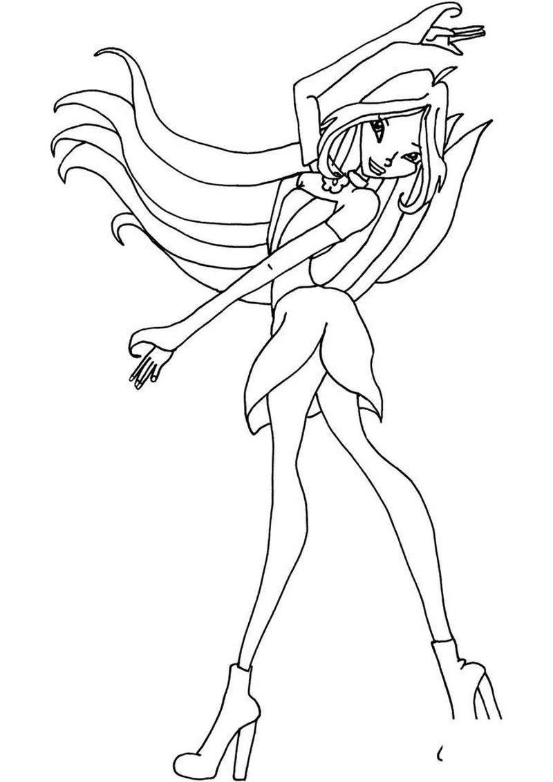 Winx Club Daphne Coloring Pages