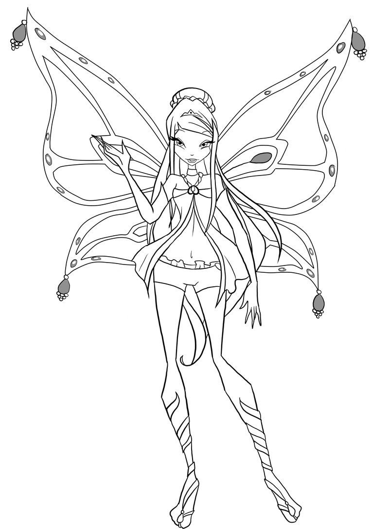 Winx Club Dreamix Coloring Pages
