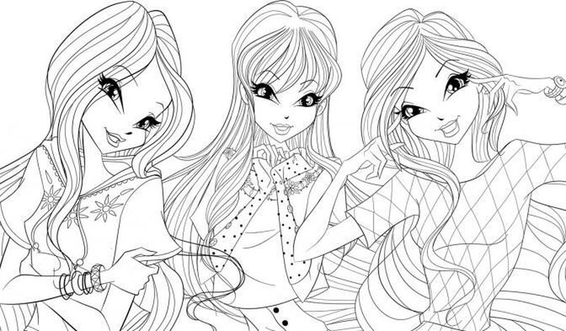 Winx Club Free Coloring Pages
