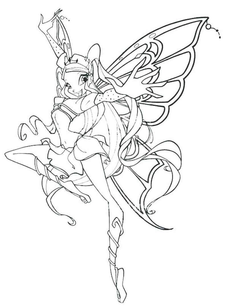 Winx Club Layla Coloring Pages
